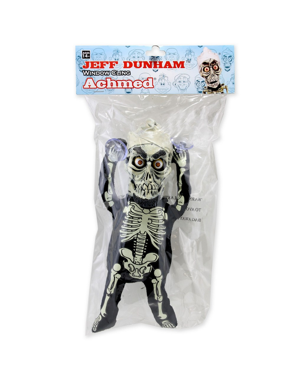 jeff dunham plush window cling achmed. Black Bedroom Furniture Sets. Home Design Ideas