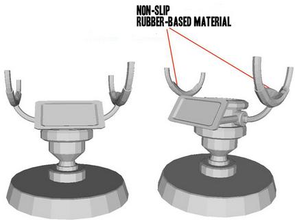 aperture science portal gun stand detail