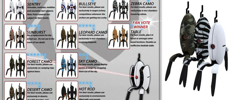 WizKids Portal 2 Collectible Turrets Coming In October