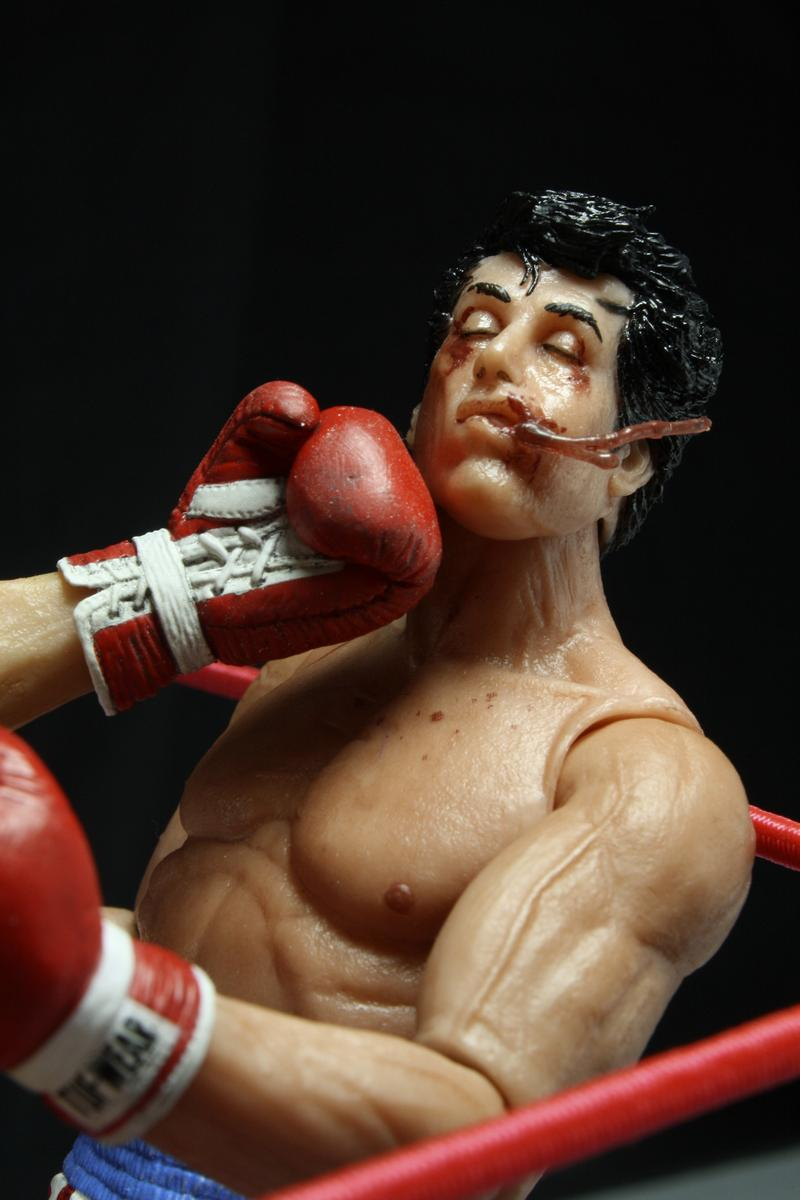 Shipping Now Rocky Series 2 Action Figures Bloody Spit