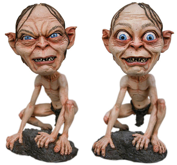 Gollum and Smeagol bobbleheads HeadKnocker