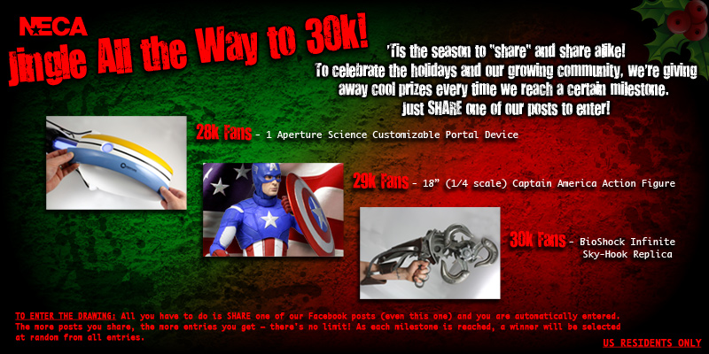 NECA Jingle All The Way 30K Facebook Contest
