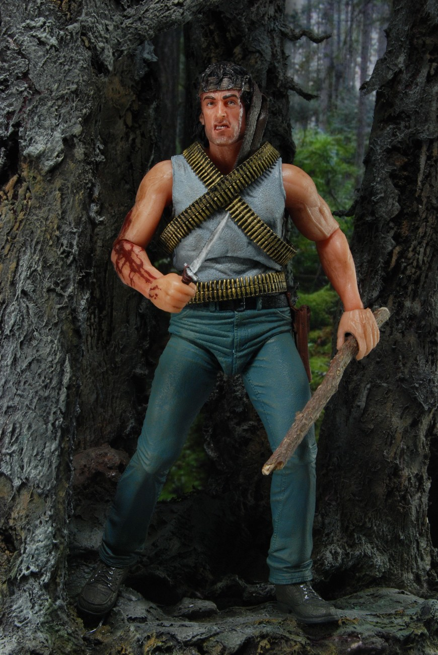 """Rambo – 7″ Action Figure – """"First Blood"""" (Case 6"""