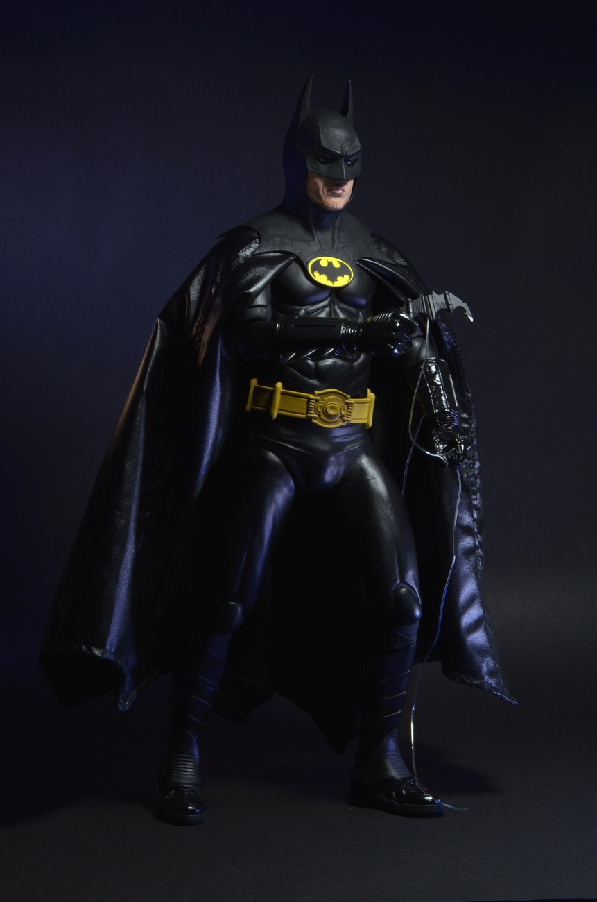 "NECA 1/4 scale 1989 18"" BATMAN MOVIE FIGURE! Michael Keaton! REEL ..."