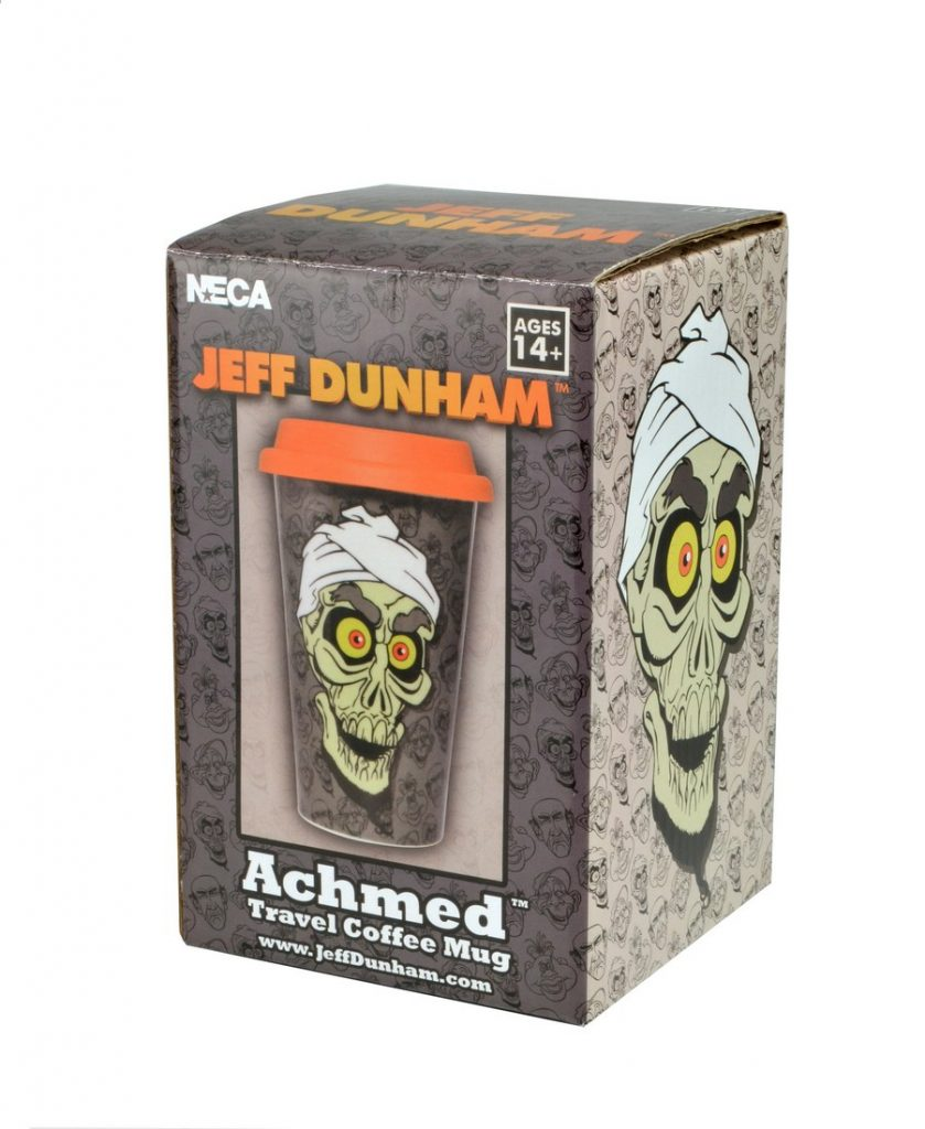 jeff dunham 12oz achmed travel mug. Black Bedroom Furniture Sets. Home Design Ideas