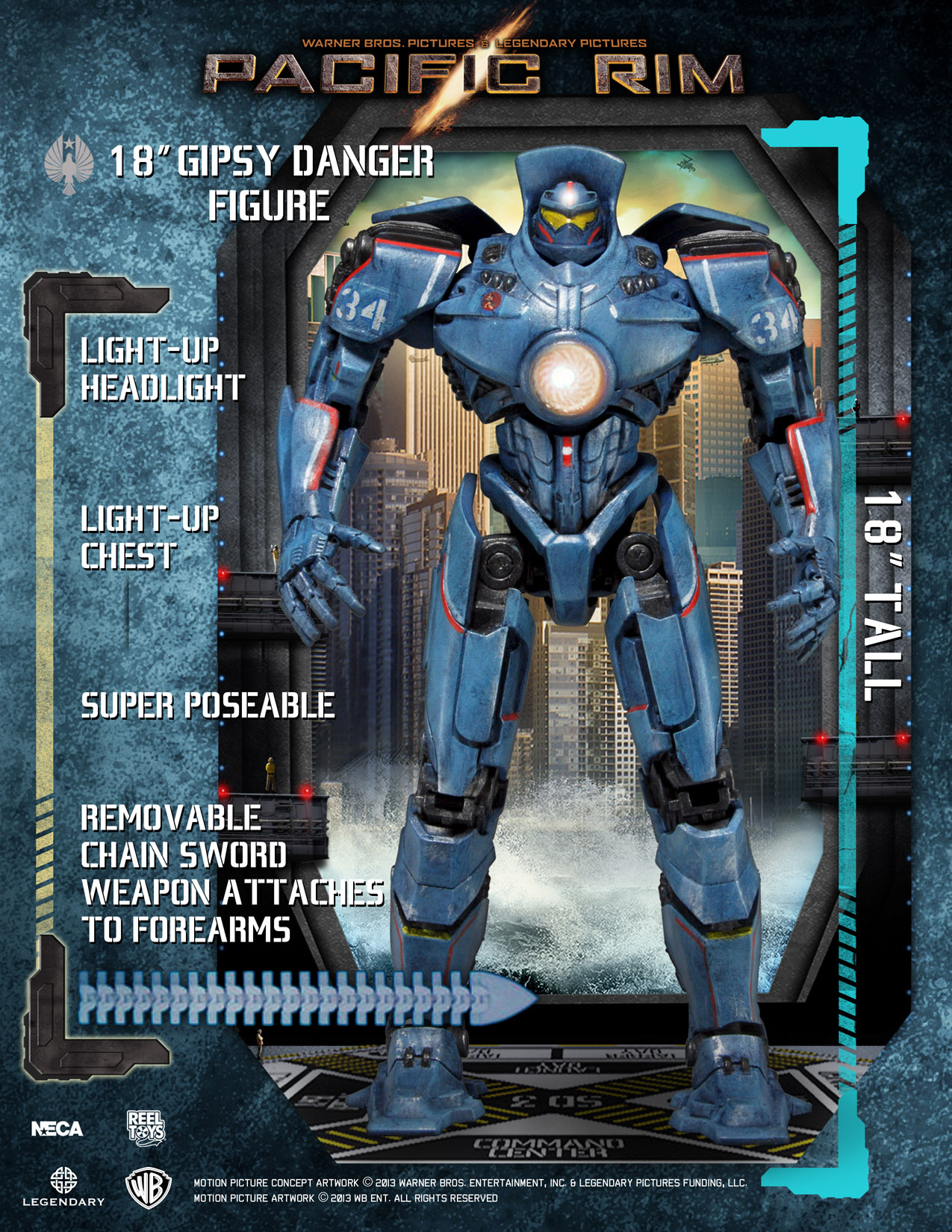 Pacific Rim – 18″ Gipsy Danger Action Figure with LED ... Pacific Rim Gipsy Danger Head