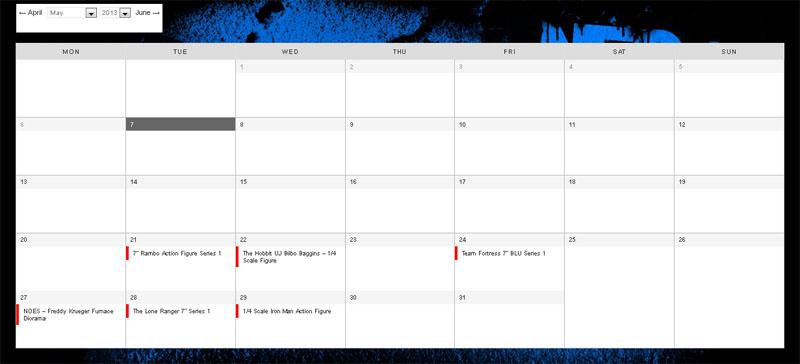 neca calendar feat