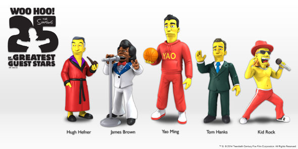 590w NECA - The Simpsons First Five Guest Stars Image
