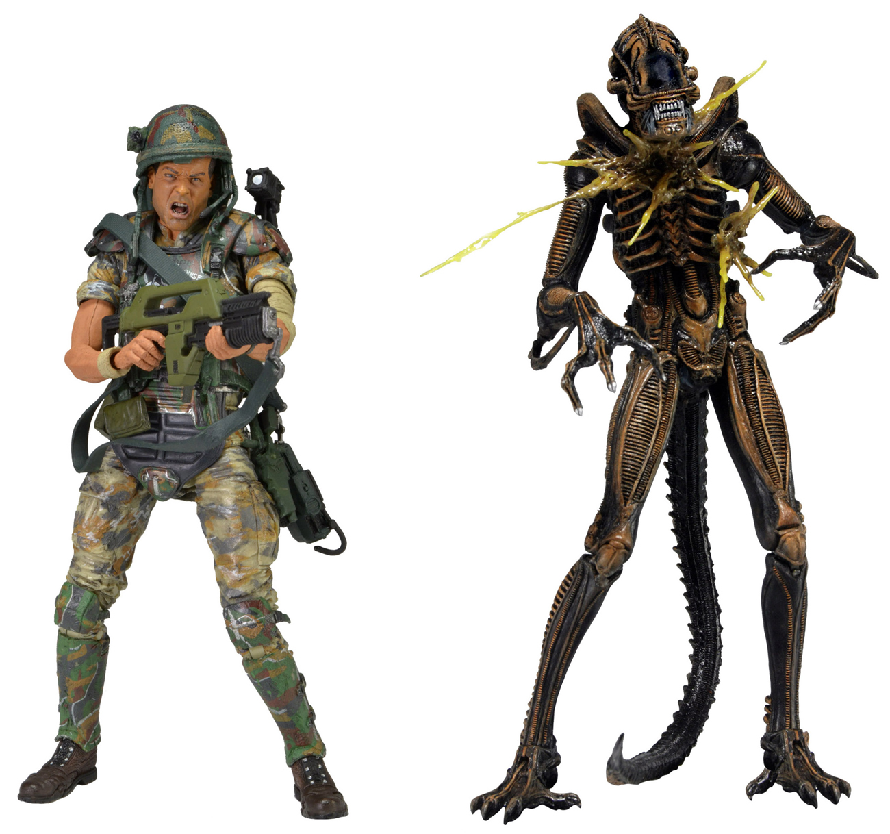 Aliens – 7″ Action Figure – 2pk (Hudson vs Brown Warrior) (Case 6)