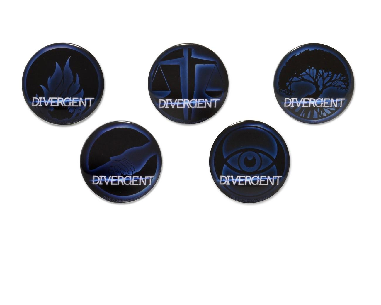 divergent � faction symbols 5pin set discontinued