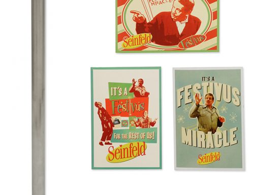 "Seinfeld – 20"" Festivus Pole and Greeting Card Set"