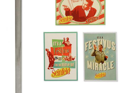 "Seinfeld – 20"" Festivus Pole and Greeting Card Set"