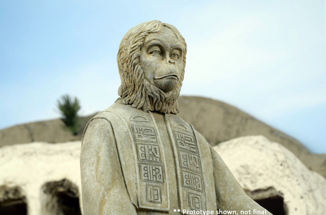 pla  of the apes lawgiver statue diorama necaonline