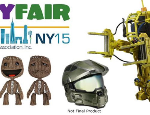 Toy Fair Day 1: Master Chief Modular Motorcycle Helmet, Aliens Power Loader, LittleBigPlanet Figures!