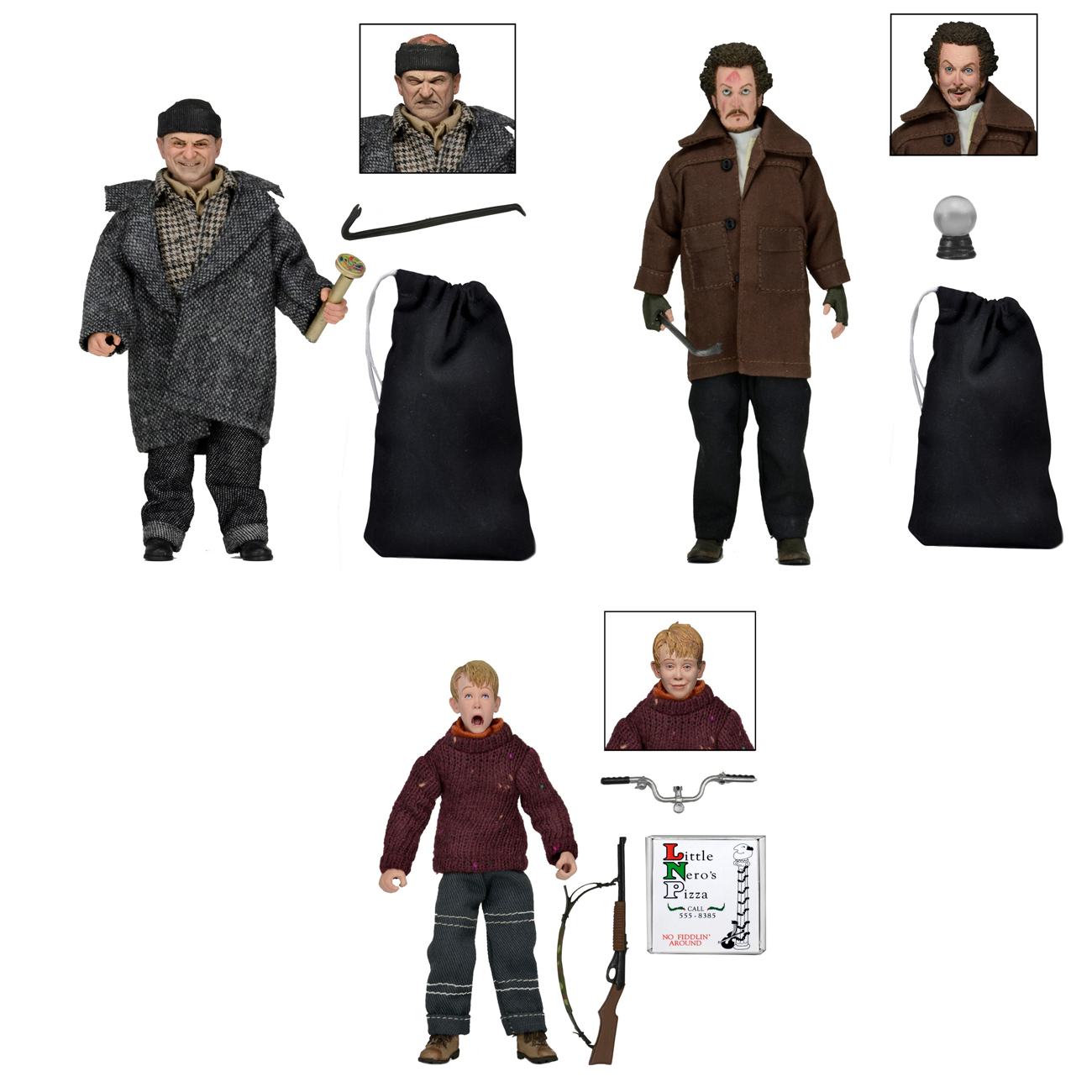 Home Alone 8 E2 80 B3 Clothed Action Figures Kevin And Wet Banditsortment