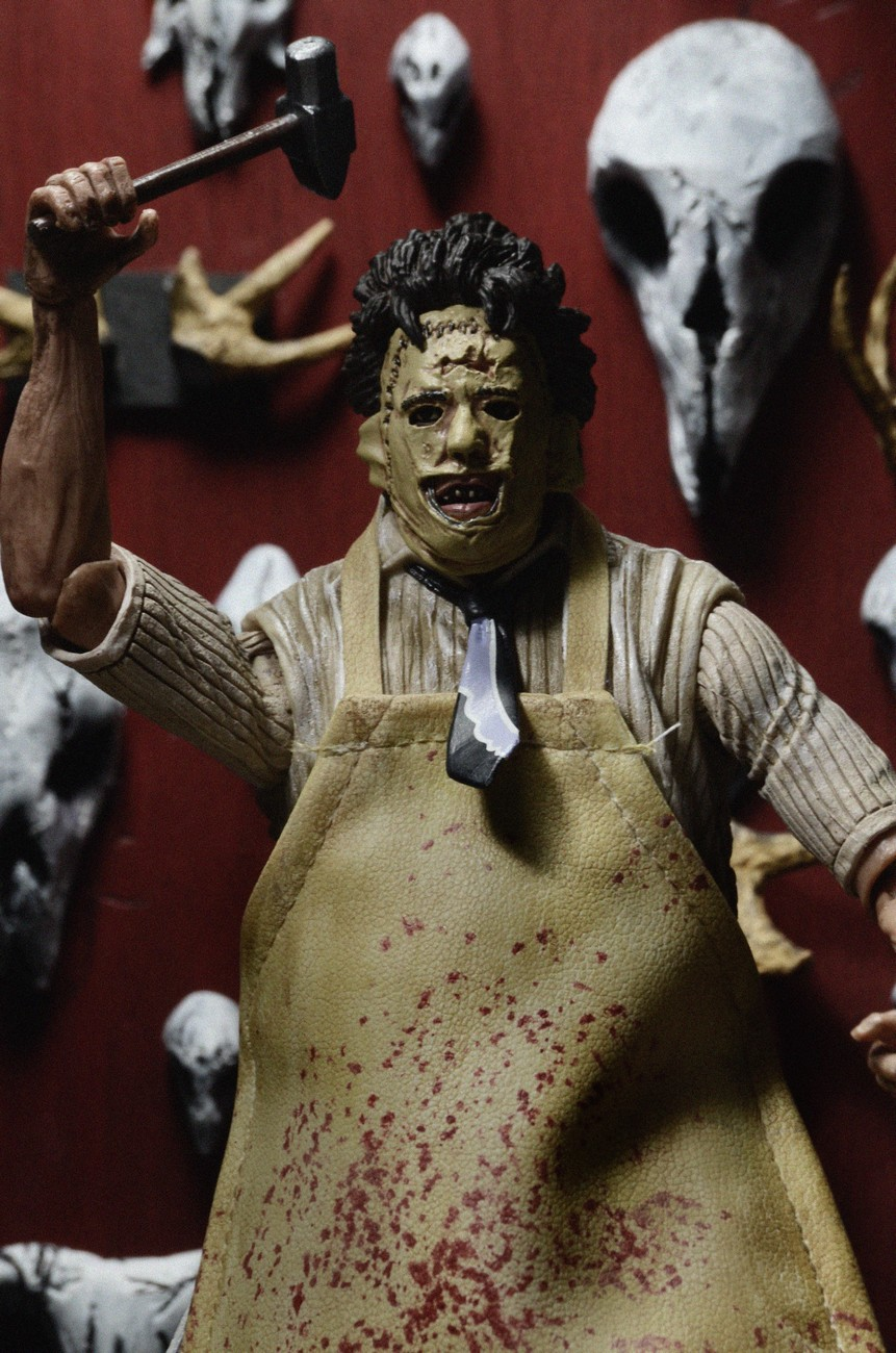 """7/"""" ULTIMATE LEATHERFACE figure THE TEXAS CHAINSAW MASSACRE neca 40th ANNIVERSARY"""