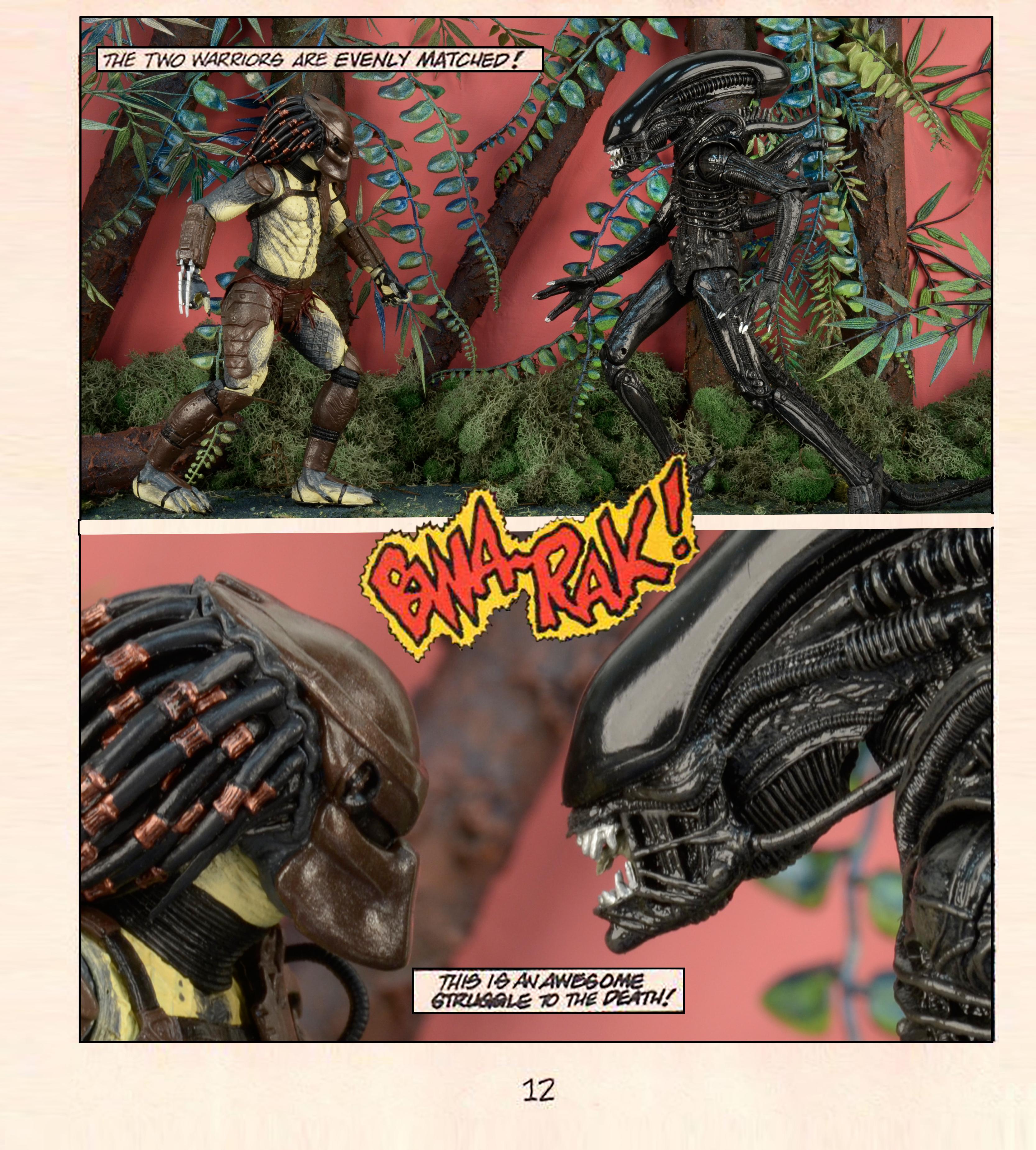 Special Tribute Gallery Aliens Vs Predator Mini Comic Using Action