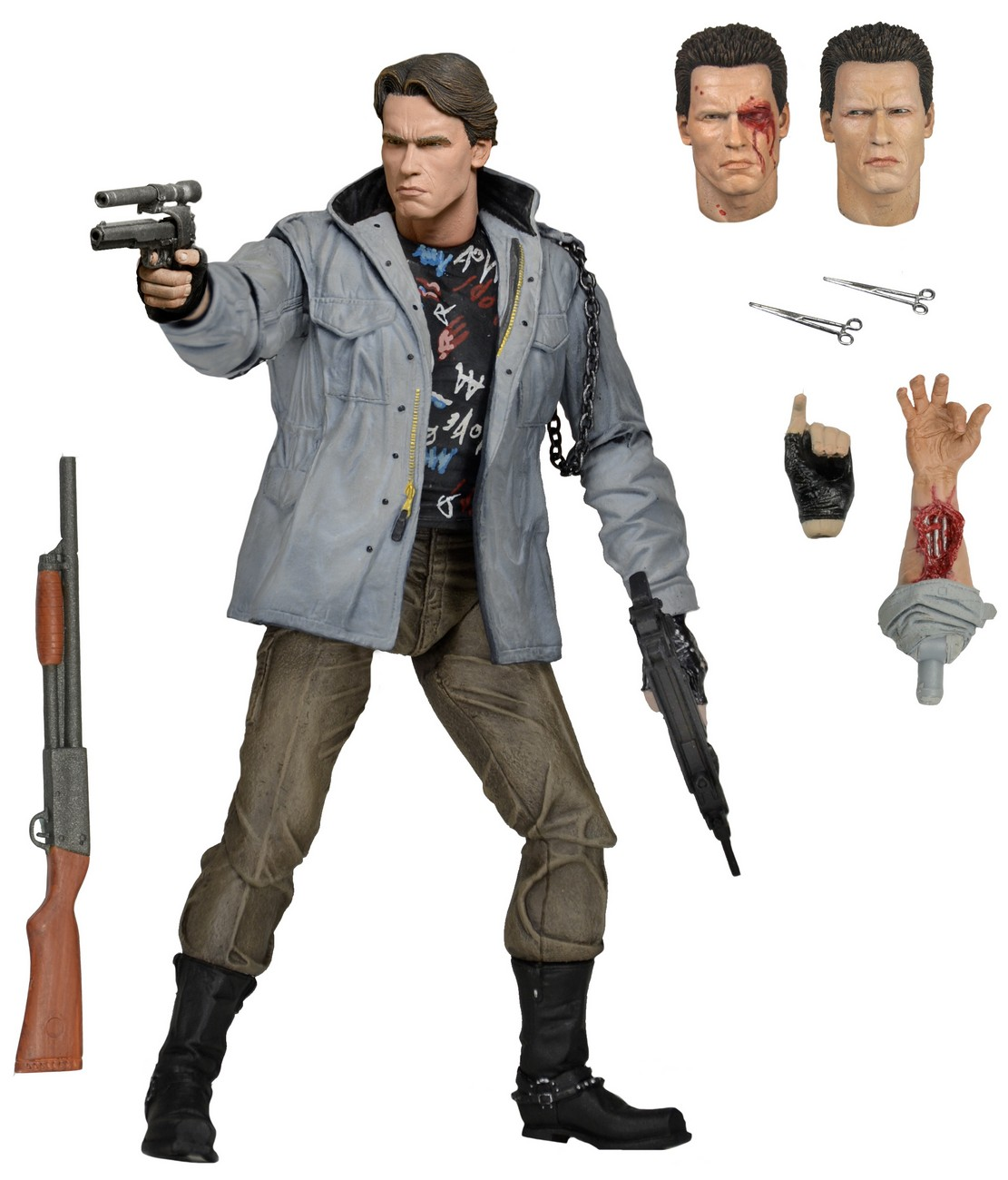 "Terminator 7"" Scale Action Figure Ultimate Tech Noir T-800"