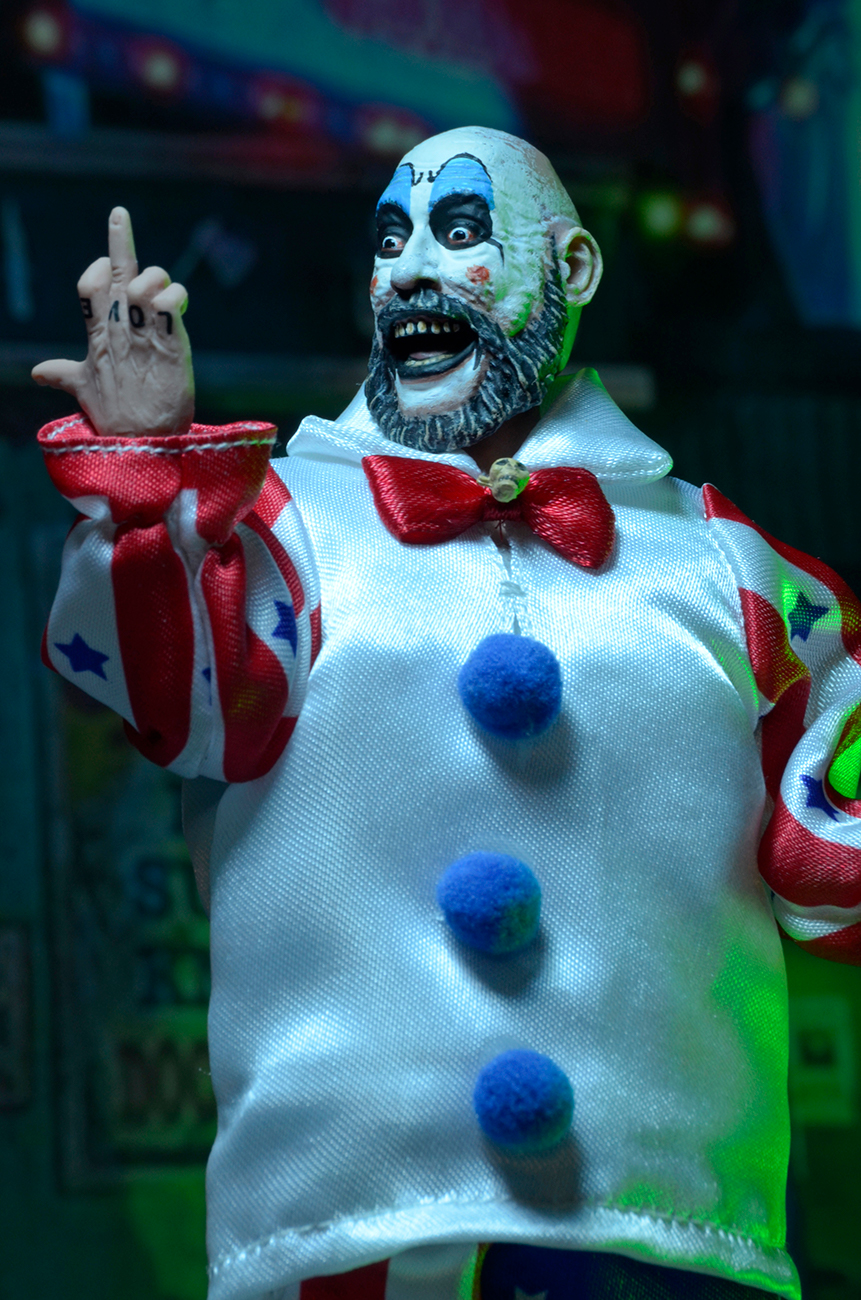 """Captain Spaulding House of 1000 Corpses NECA 8/"""" Retro Style Clothed Figure"""
