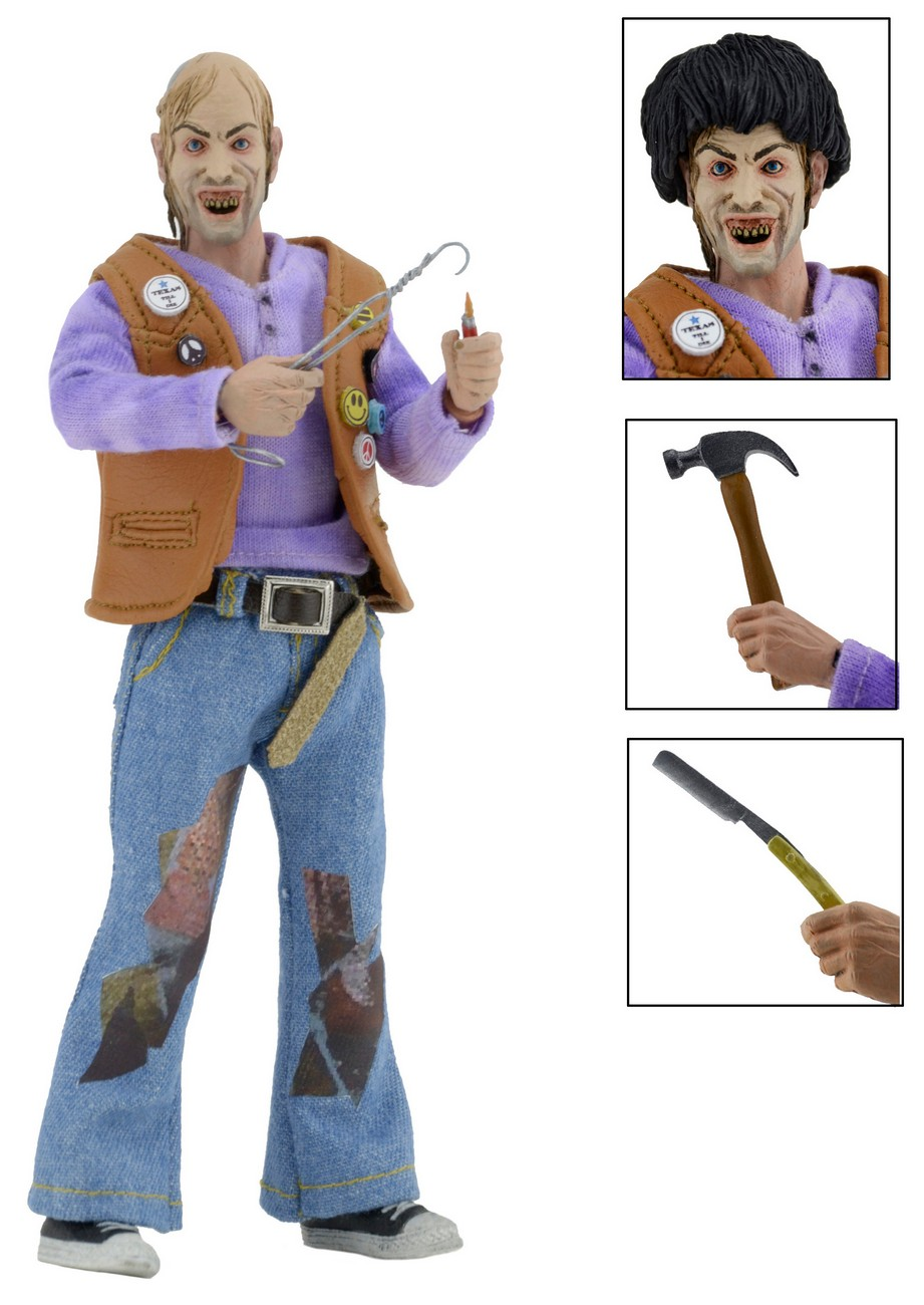 "6a76a02bdb6 DISCONTINUED – Texas Chainsaw Massacre 2 – 8"" Clothed Figure – Chop Top"