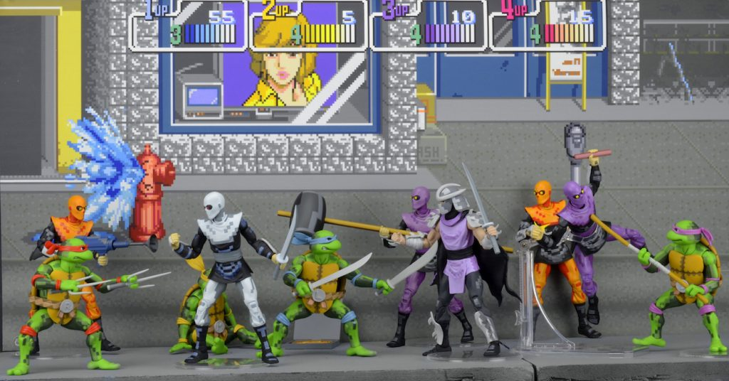 SDCC Exclusive: TMNT Arcade Turtles and Foot Clan Box Sets! [VIDEO ...
