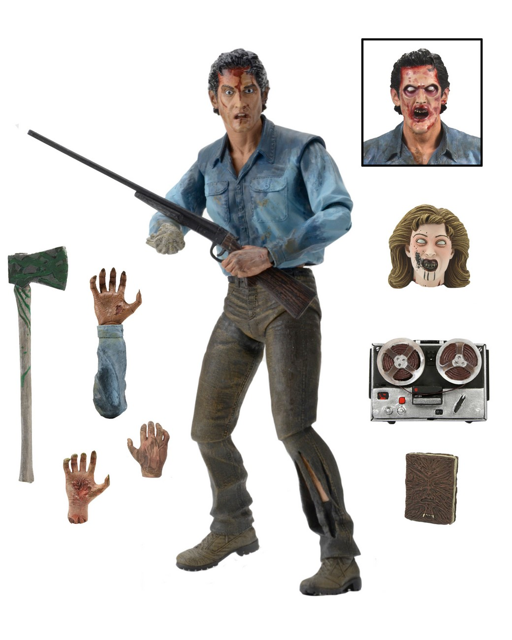 Discontinued Evil Dead 2 7 Scale Action Figure