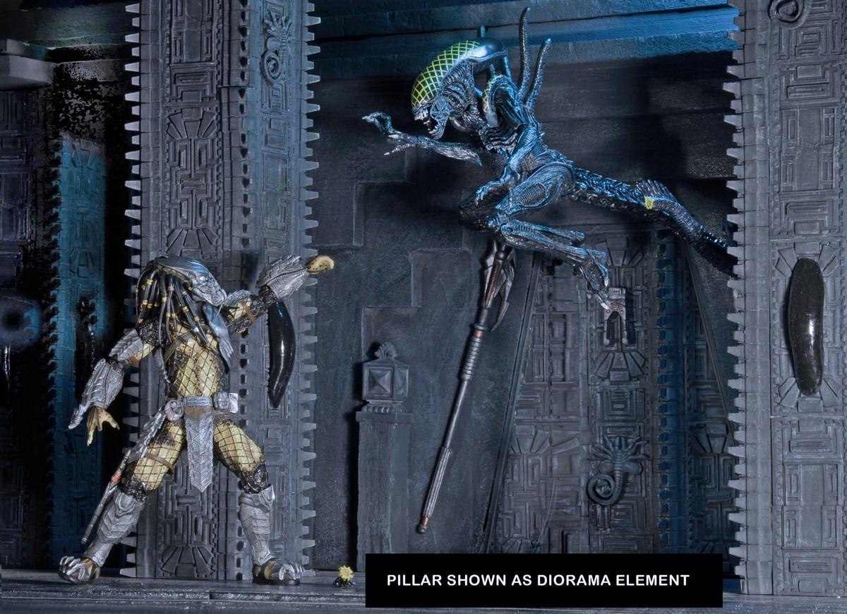 Alien Vs Predator Temple Pillar Diorama Element
