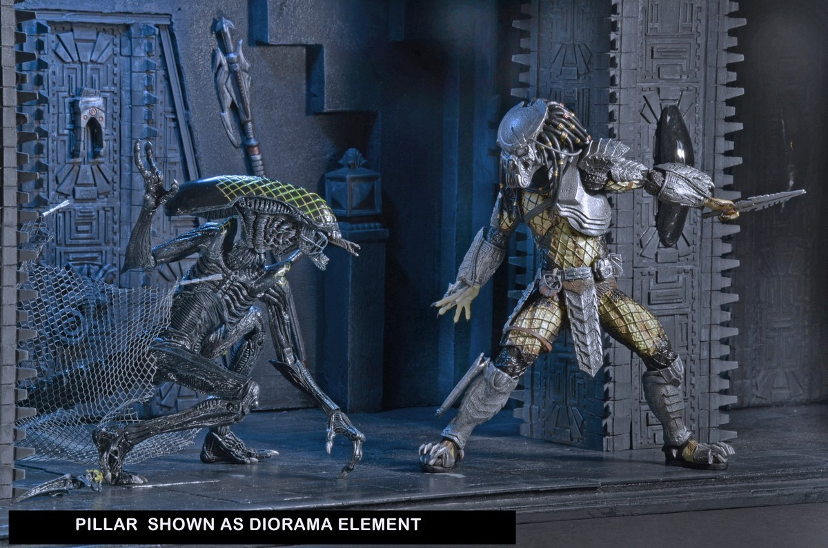 alien vs predator temple pillar diorama element