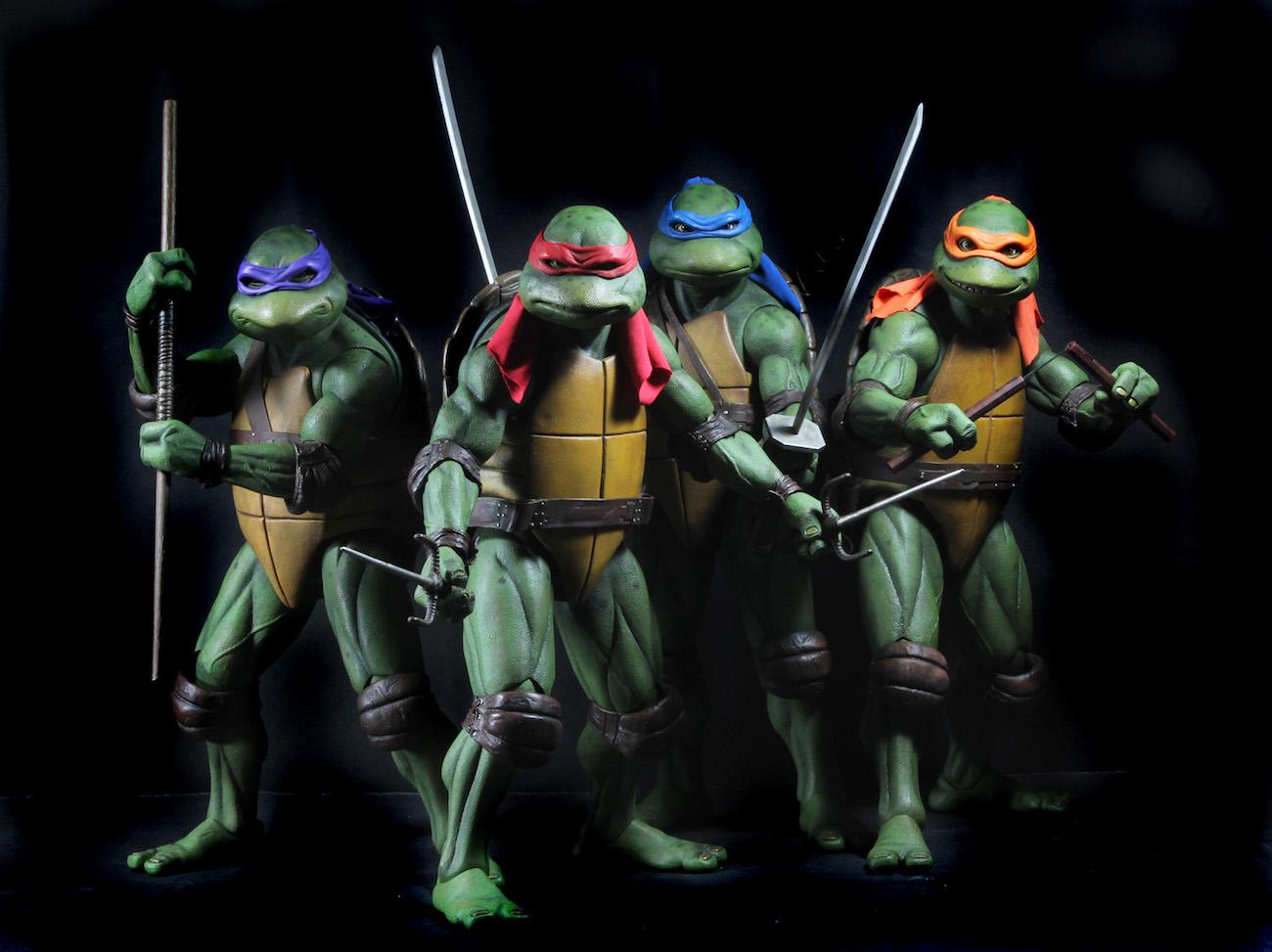 Teenage mutant ninja turtles 1990 movie 14 scale action figure prevnext voltagebd Gallery