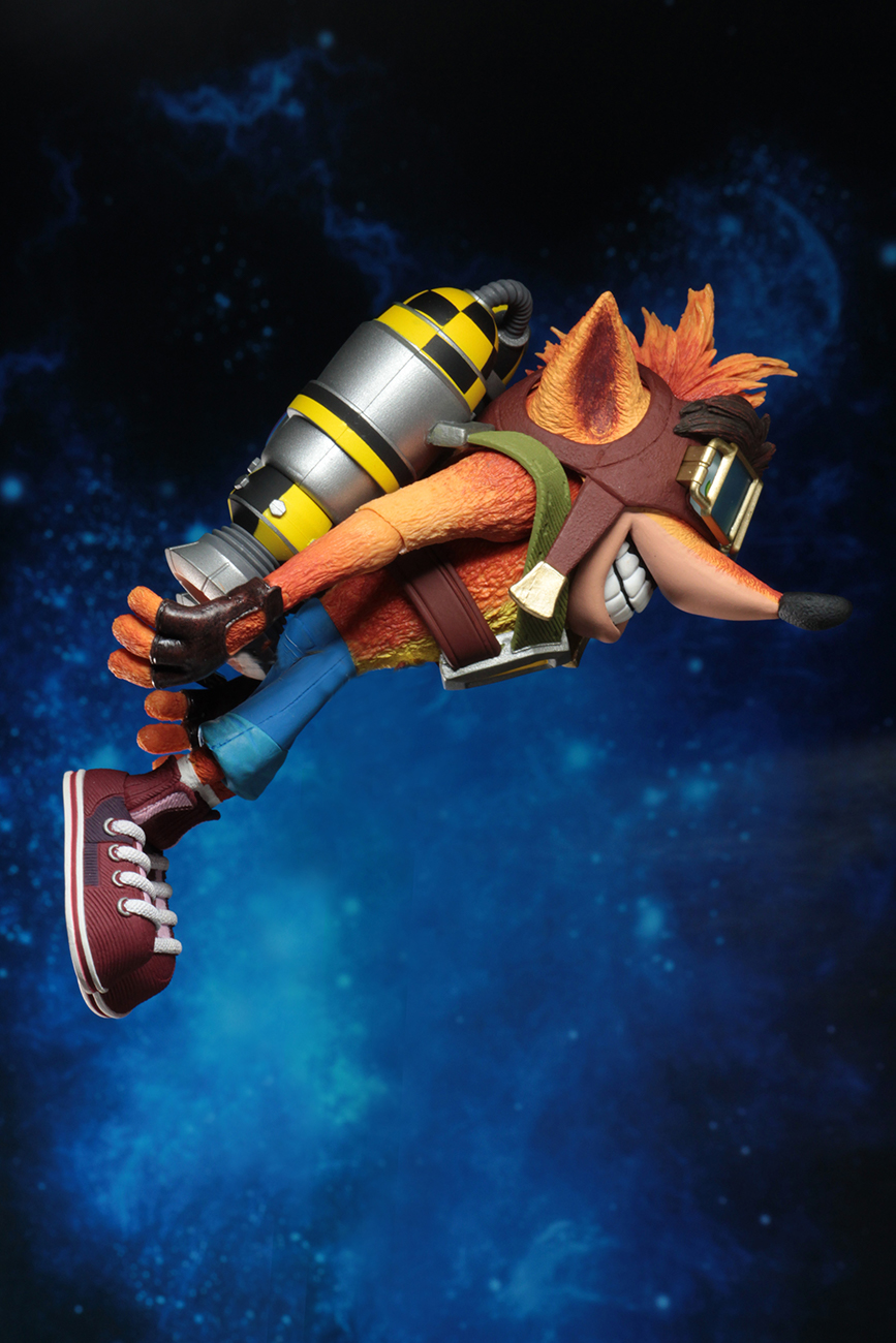 "Deluxe Crash with Jetpack NECA Crash Bandicoot  7/"" Scale Action Figure"