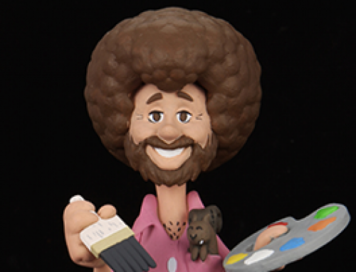 "Bob Ross – 6"" Scale Action Figure – Toony  Figure ""Bob Ross with Peapod"""