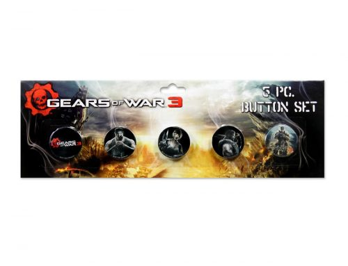 Gears of War 3 – 5-Piece Pin Set – Characters ***DISCONTINUED***
