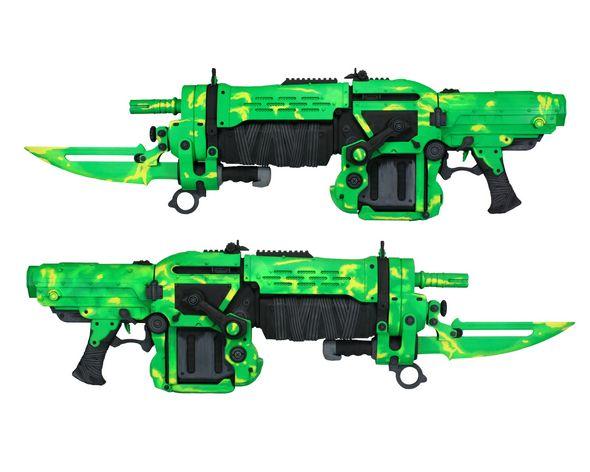 Electric Green GOW Retro Lancer