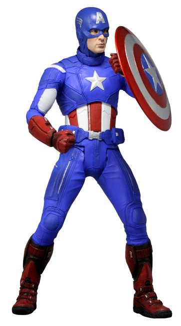 NECA 1/4 Scale Captain America Action Figure - The Avengers
