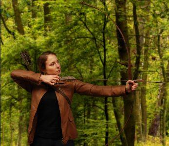 Katniss Hunting Leather Jacket - Target