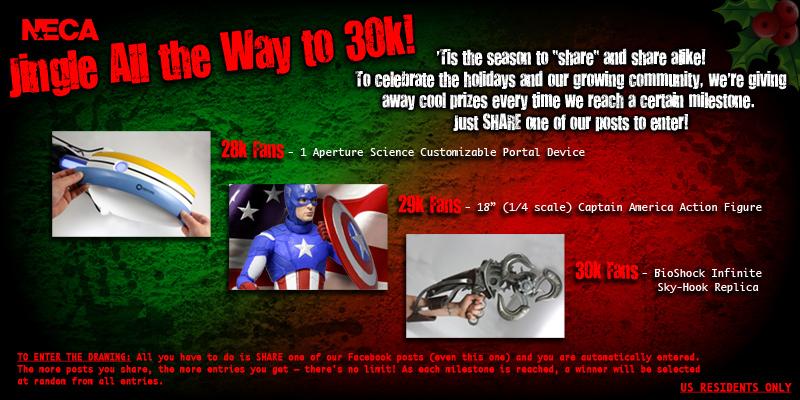 NECA Jingle All The Way 30K Facebook Contest