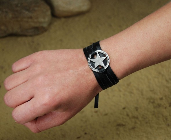 47591_Lone_Ranger_Leather_Strap_Bracelet
