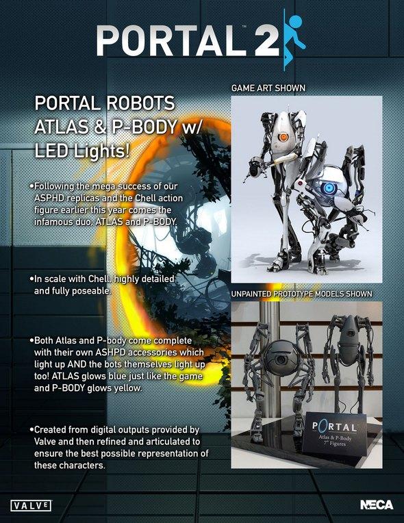 Portal 2 Atlas & Pbody action figures