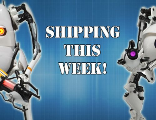 Shipping this Week: Portal 2 Atlas and P-Body Light-Up Action Figures!