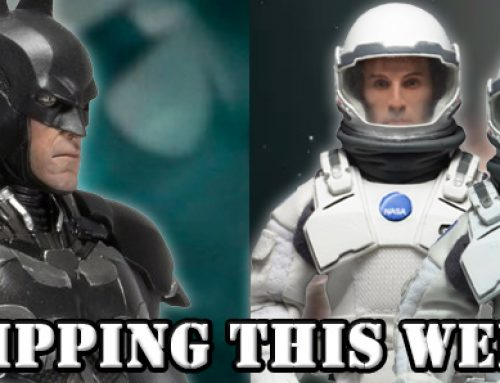 Shipping this Week: 1/4 Scale Batman Arkham Knight Figure, Interstellar Retro Clothed Figures