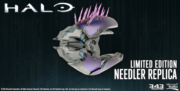 LTD EDITION Only 3000 Made MIB Neca HALO NEEDLER Life Size REPLICA