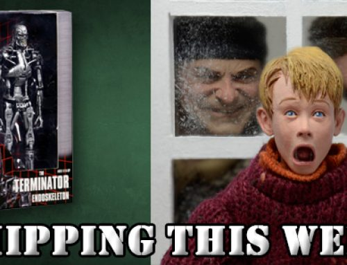 Shipping: Home Alone 8″ Clothed Action Figures and Terminator Endoskeleton in Window Box