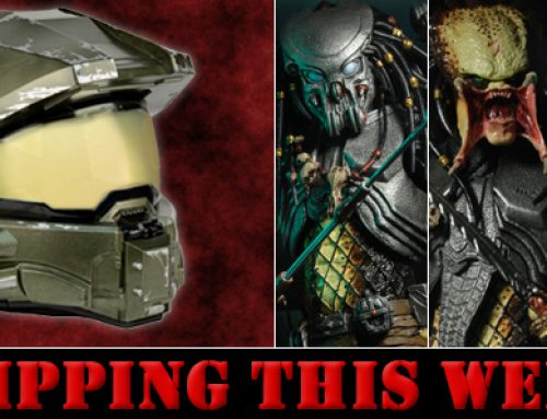Shipping: Master Chief Motorcycle Helmet and Predator Series 14 Action Figures (Alien vs Predator)