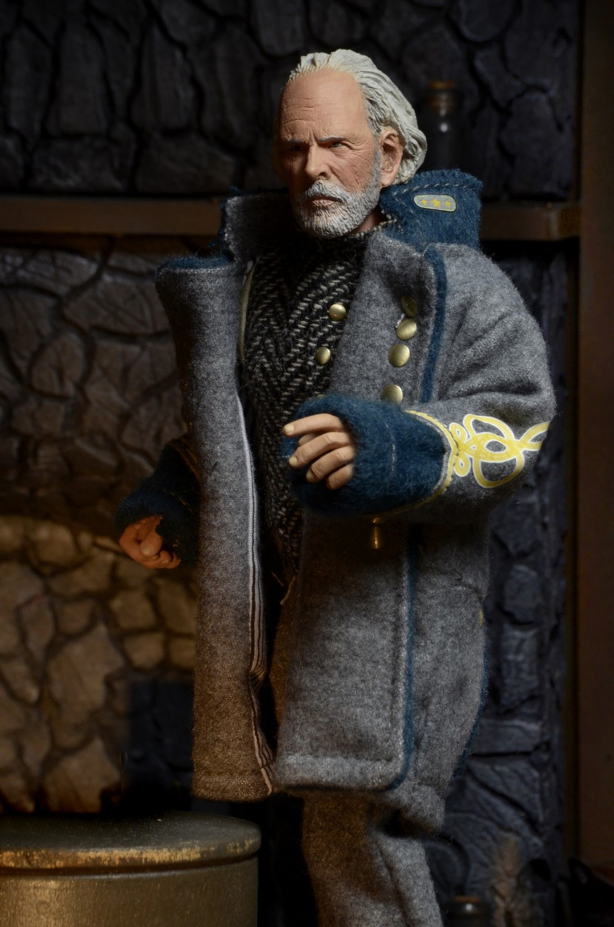 THE HATEFUL EIGHT GENERAL SANDY SMITHERS THE CONFEDERATE ACTION FIGURE Brand New
