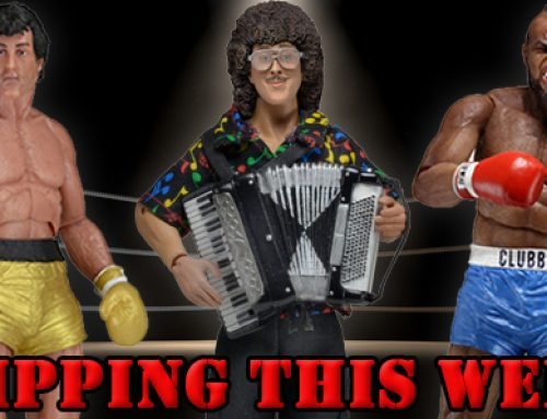 "Shipping: ""Weird Al"" Yankovic and Rocky 40th Anniversary Action Figures"