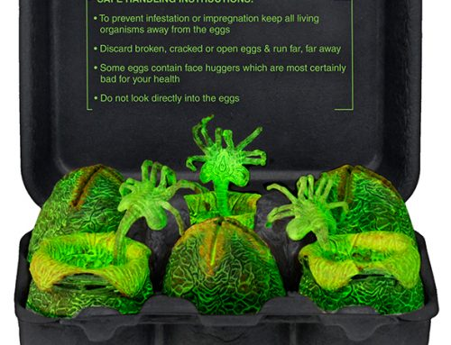 DISCONTINUED – Alien – Glow-in-the-Dark Egg Set in Collectible Carton