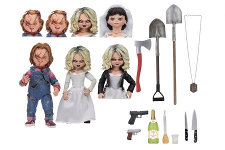 Bride of Chucky – 7″ Scale Action Figure – Ultimate Chucky & Tiffany 2-Pack | NECAOnline.com