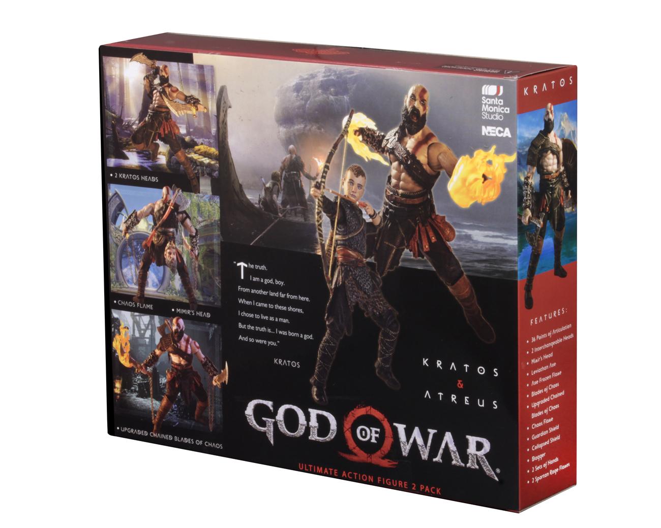 God Of War 2018 7 Scale Action Figure Ultimate Kratos Atreus 2 Pack Necaonline Com