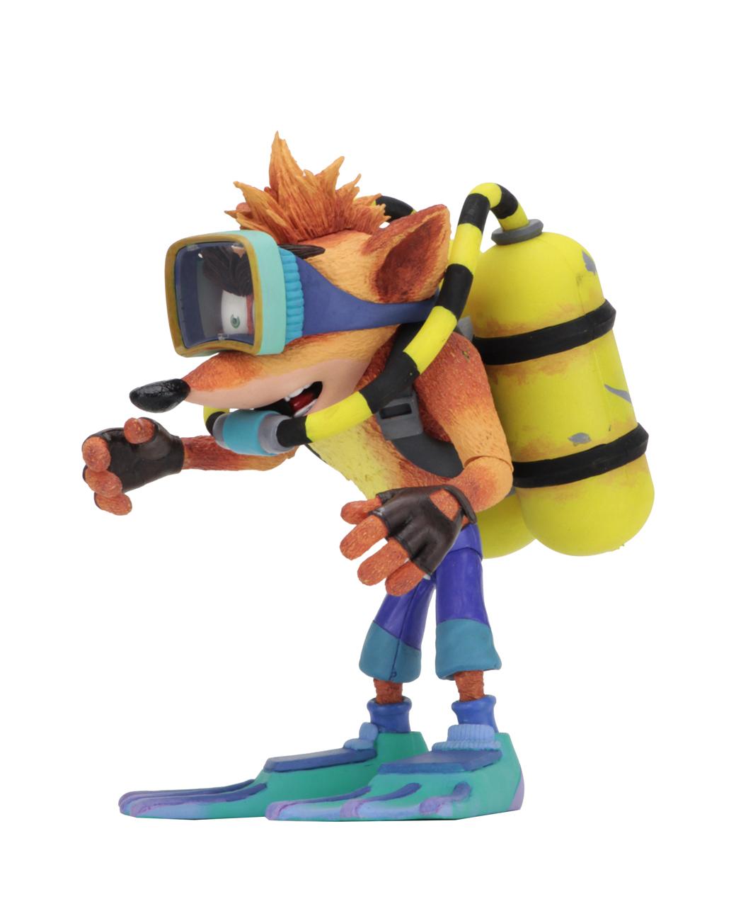 Crash Bandicoot Crash avec Scuba gear NECA Deluxe Action Figure
