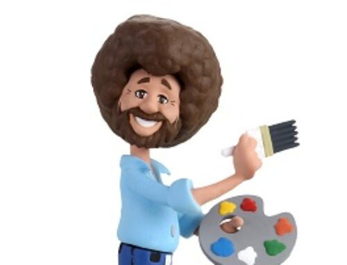 Bob Ross – 6″ Scale Action Figure – Toony Classics Bob Ross